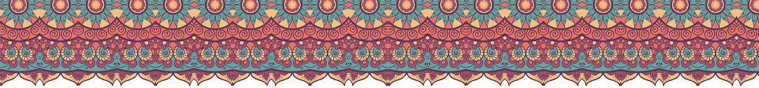 Mandala Bordüre Header Bunt