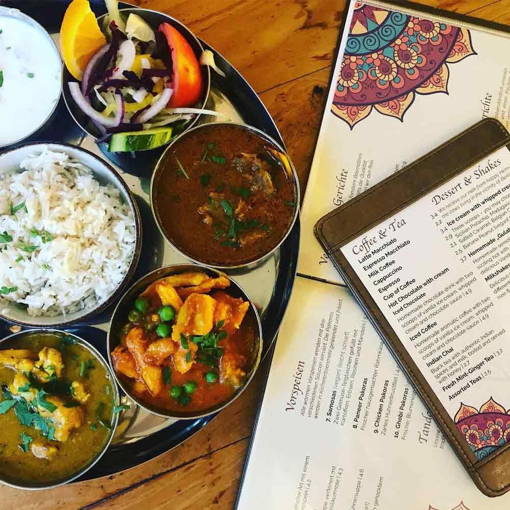 Amrit Berlin indisches Restaurant Speisekarte