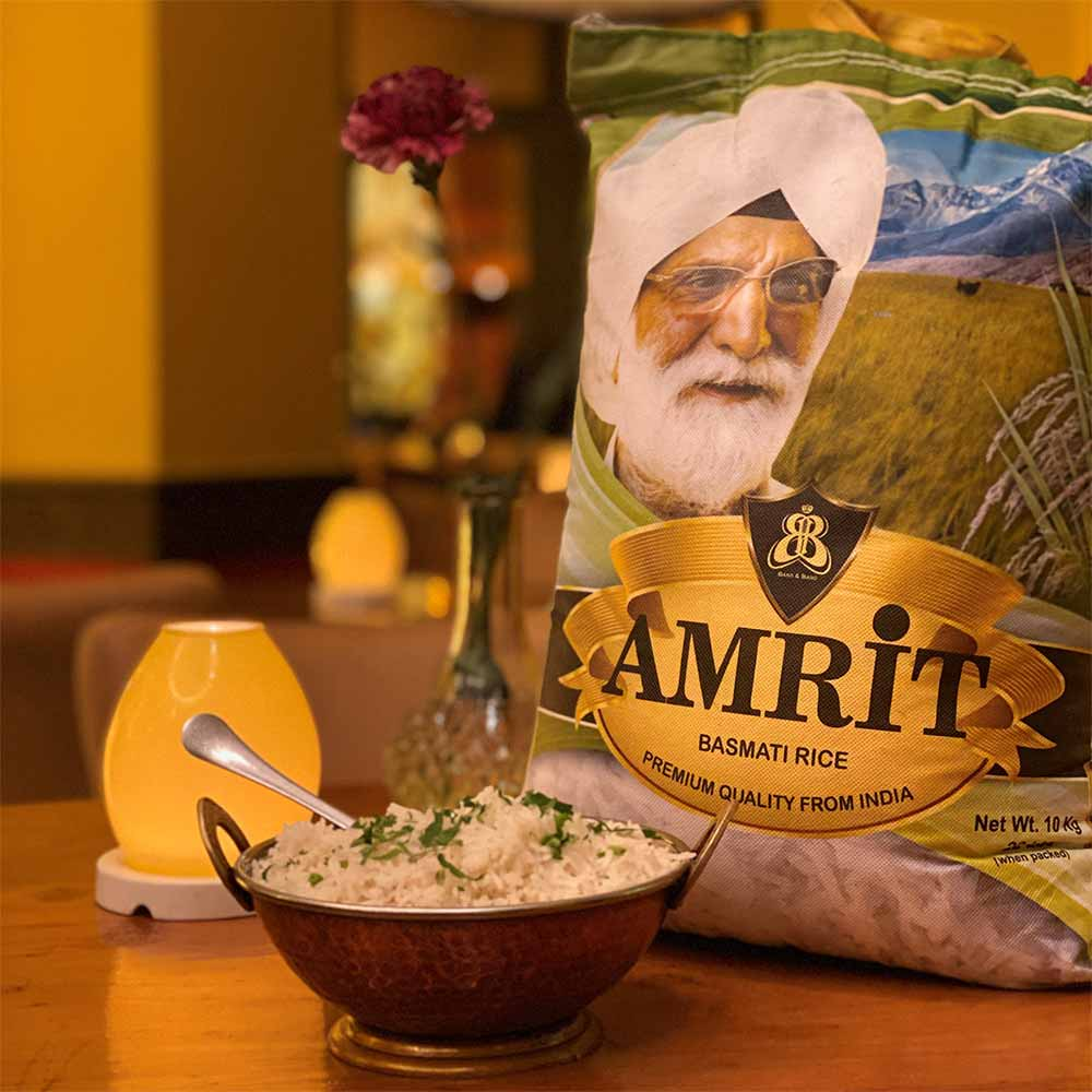 Amrit Berlin indisches Restaurant Fairtrade Reis