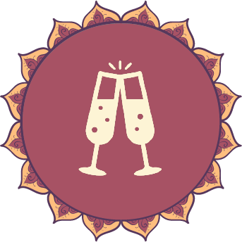Amrit Berlin indisches Restaurant Logo Feier