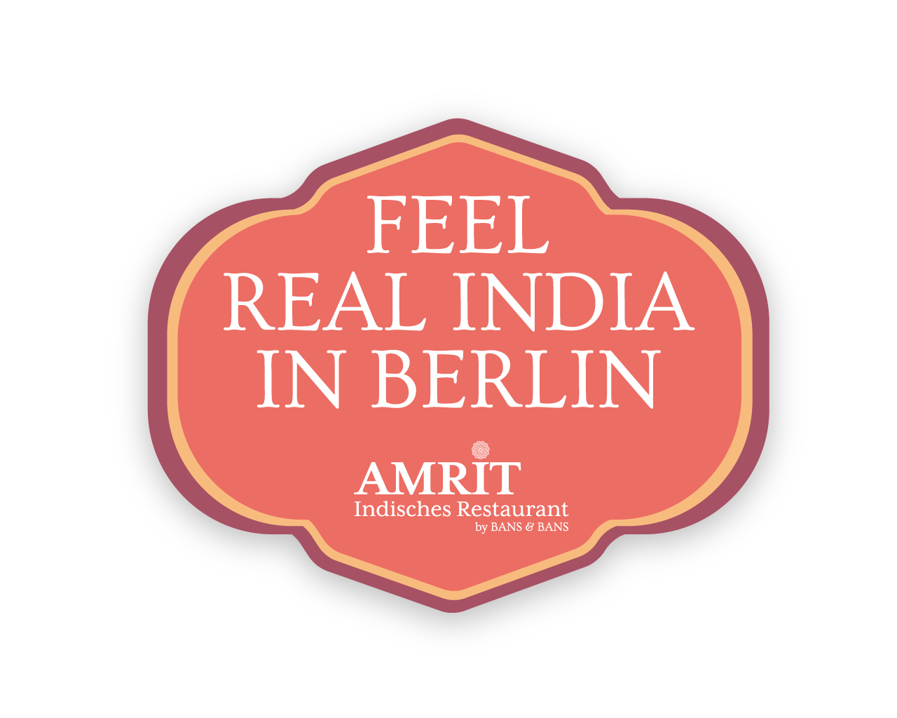 Amrit Berlin indisches Restaurant Logo Feel Real India