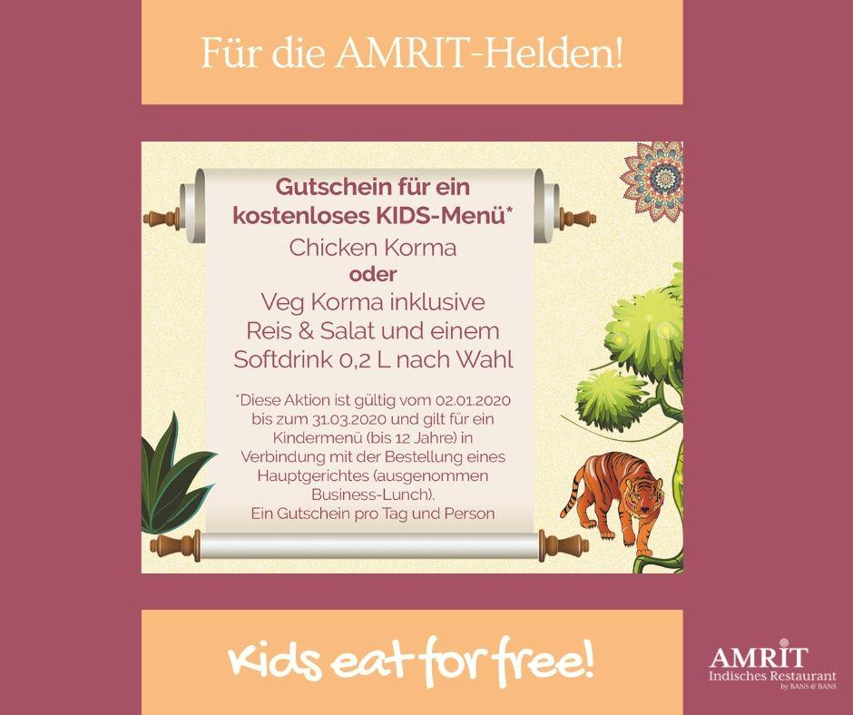 Amrit Berlin indisches Restaurant Kinder Spezial