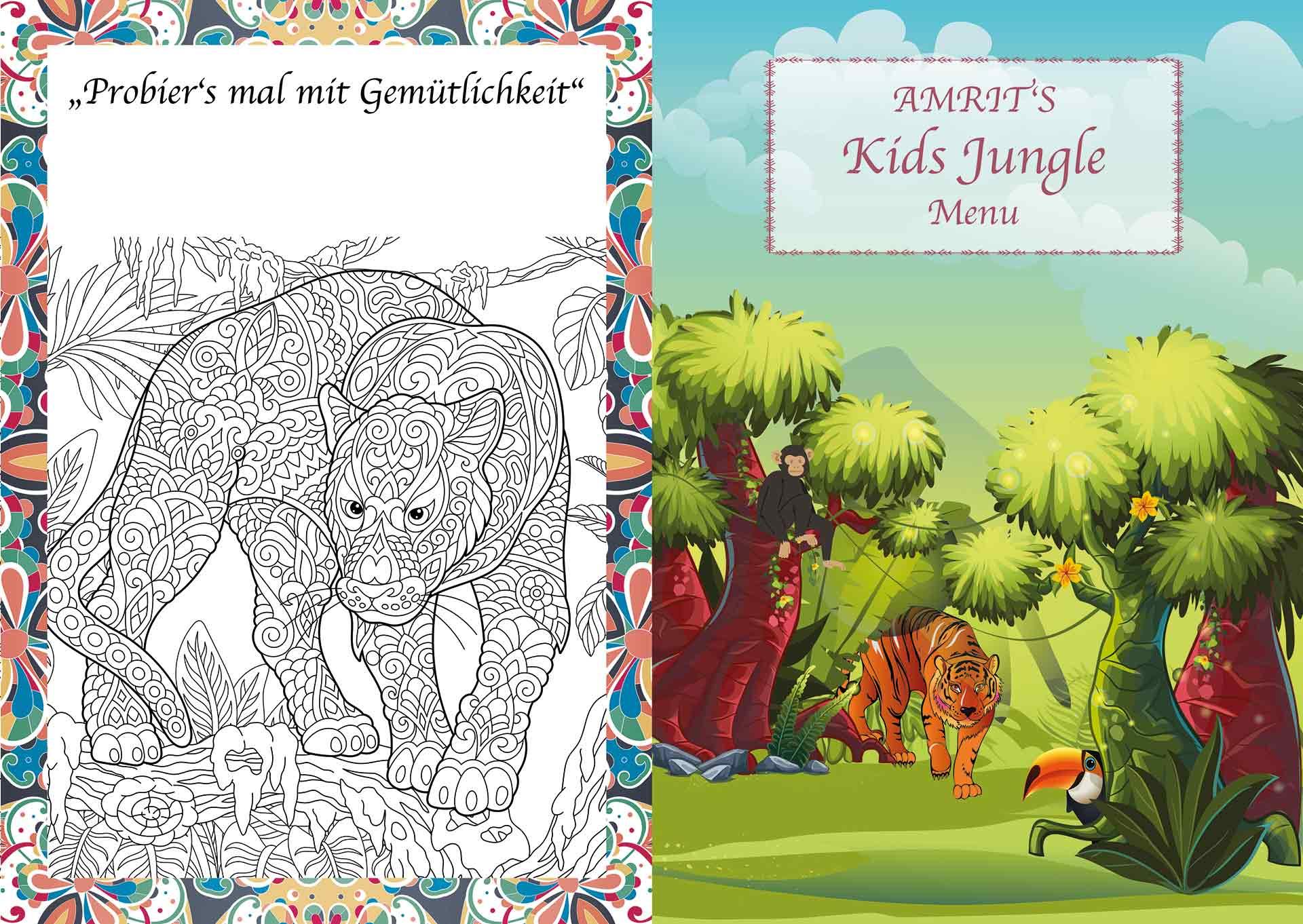 Amrit Berlin indisches Restaurant Kinder Spezial Malbuch